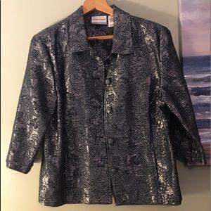 Dress Jacket Beautiful silver & gray paisley